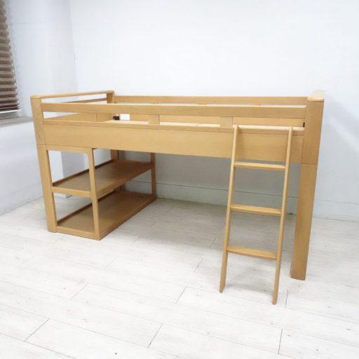 浜本工芸 システムベッド No.5000 ミドルベッド ナラ無垢材 シングルベッド
